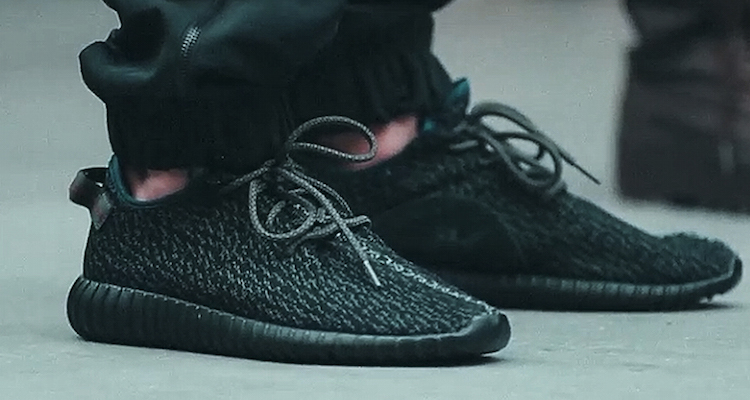 """classic fit eb8f2 bb168 Kanye West x adidas Yeezy 350 Boost Low """"Black"""" On-Foot ..."""