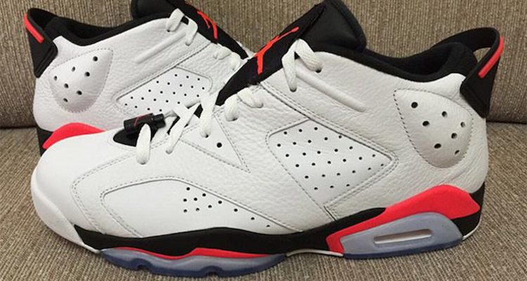 separation shoes f930d ceccb Peep Another Look at the Air Jordan 6 Low White/Black ...
