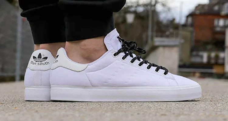 timeless design bc88e 47e15 adidas Stan Smith Vulc Goes All-White for Summer | Nice Kicks