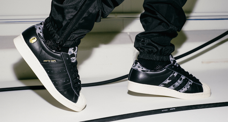 dfdaed02fbff UNDFTD x BAPE x adidas Consortium Superstar 80V On-Foot Preview ...