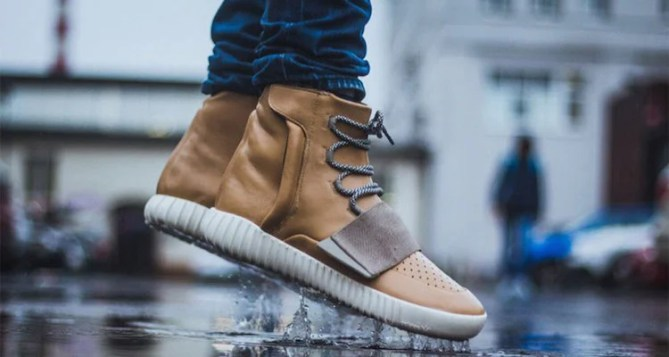 adidas Yeezy 750 Boost Tan Custom by Maggi