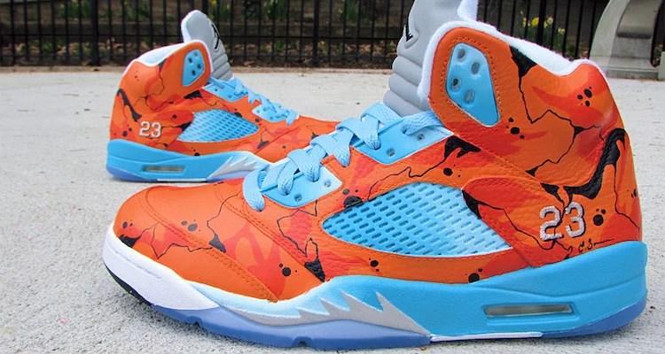 "sports shoes e23a6 b04c4 Air Jordan 5 ""Lava On Ice"" Custom by Ecentrik Artistry"