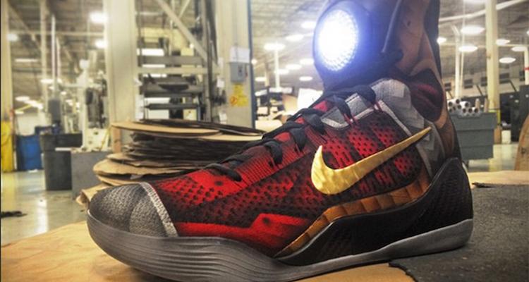 "size 40 d90cc da250 ... Nike Kobe 9 Elite ""Ironman"" Custom by Mache Customs ."