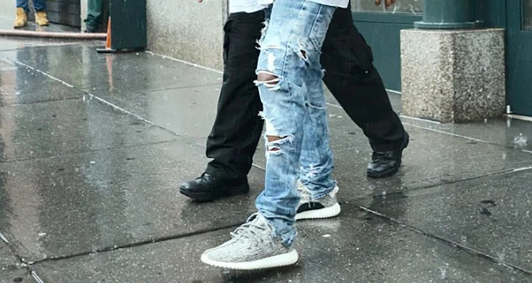 cdb150990fb7 Kanye West Rocks adidas Yeezy 350 Boost Low in NYC