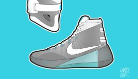 wholesale dealer 20d6f 7a1bf Larry Luk Debuts Nike Mag Inspired Illustrations of the Nike Hyperdunk 2015