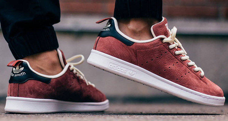 wholesale dealer d8334 ca983 adidas stan smith rust red