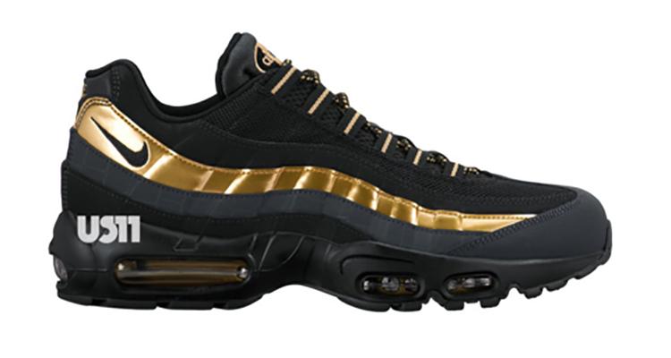 nike air max 95 black and gold