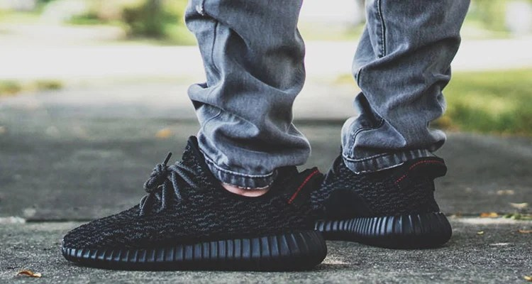 cb7283adfbc35 ... italy an on foot look at the adidas yeezy boost 350 pirate black 40d7a  4b41b
