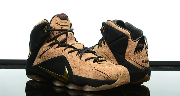 84b1e96f9e5 ... clearance a detailed look at the nike lebron 12 ext kings cork 8faec  41c81