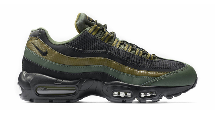 "585a2bafd0 Militaristic Vibes Takeover the Nike Air Max 95 Essential ""Carbon Green"""