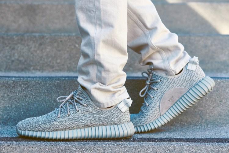 """5216aabdf7109 On-Foot Look    adidas Yeezy Boost 350 """"Moonrock"""""""