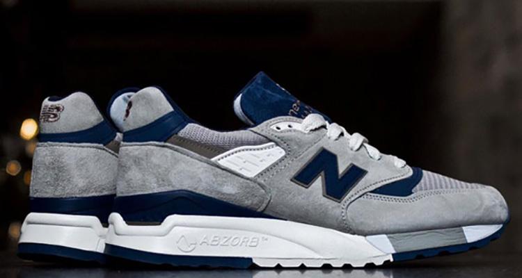 e71bcf16dfafa New Balance 998 Made in USA Grey/Navy | Nice Kicks