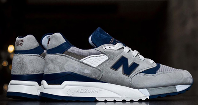 sale retailer dc437 65353 New Balance 998 Made in USA Grey/Navy | Nice Kicks