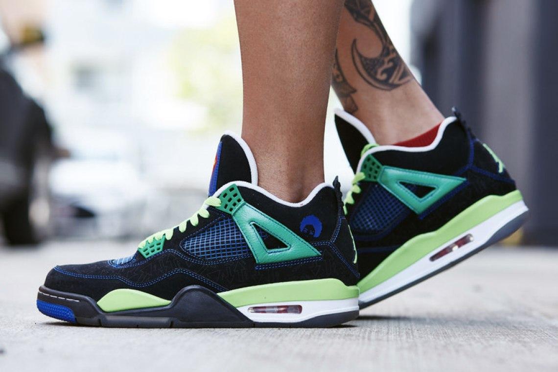 """Air Jordan 4 """"Doernbecher"""" On-Foot Look"""