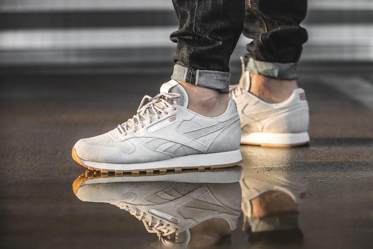 premium selection 0ea68 6ad7c ... Reebok Classic Leather White Gum reebok classic leather white on feet  Available Soon Kendrick Lamar x ...