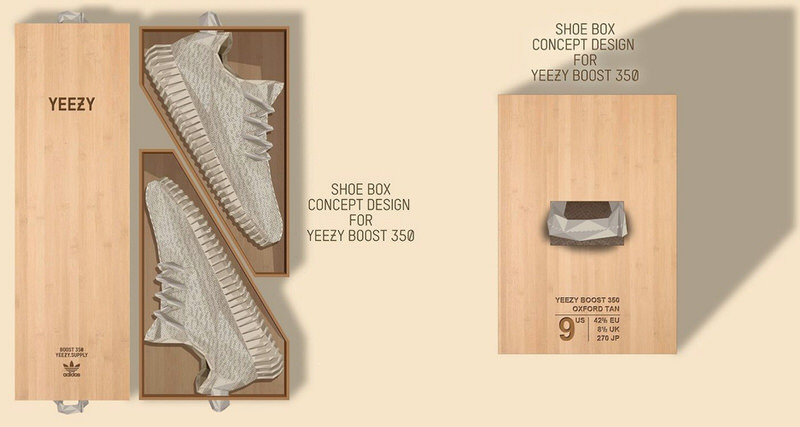 Adidas Yeezy Boost 350 Box Design Concept