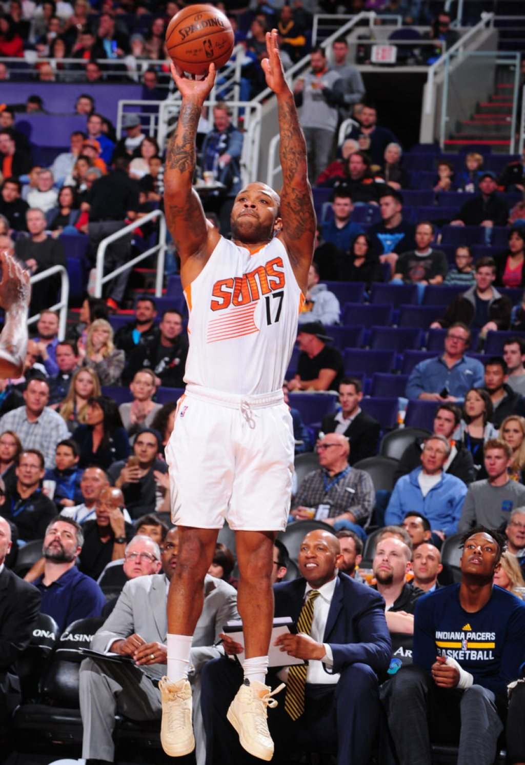 "P.J. Tucker shooting in the ""Beach"" Just Don x Air Jordan 2"