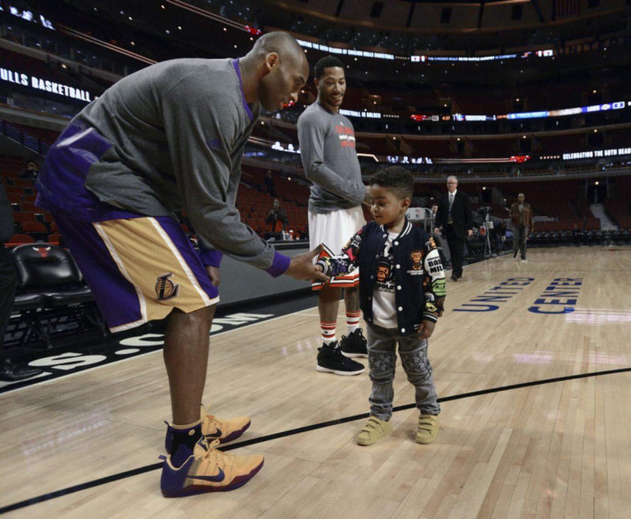 Kobe Bryant wearing a Nike Kobe 11 PE