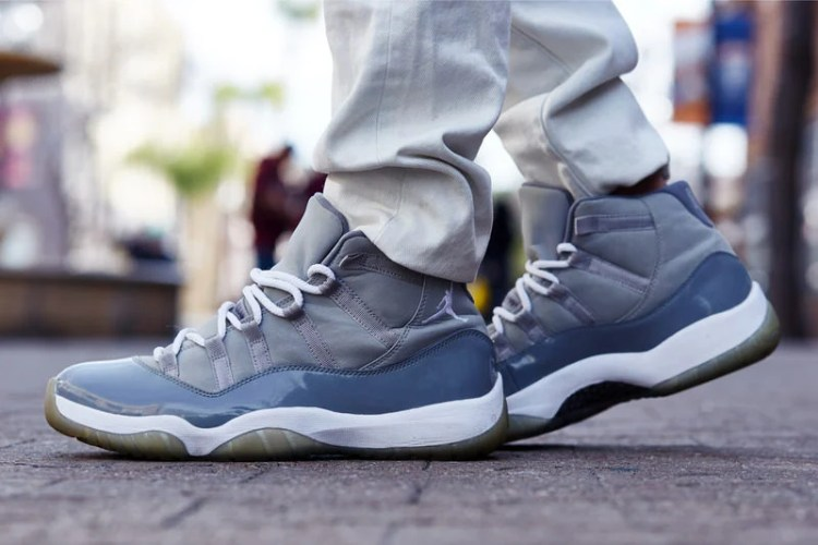 "Air Jordan 11 ""Cool Grey"" On-Foot Look"