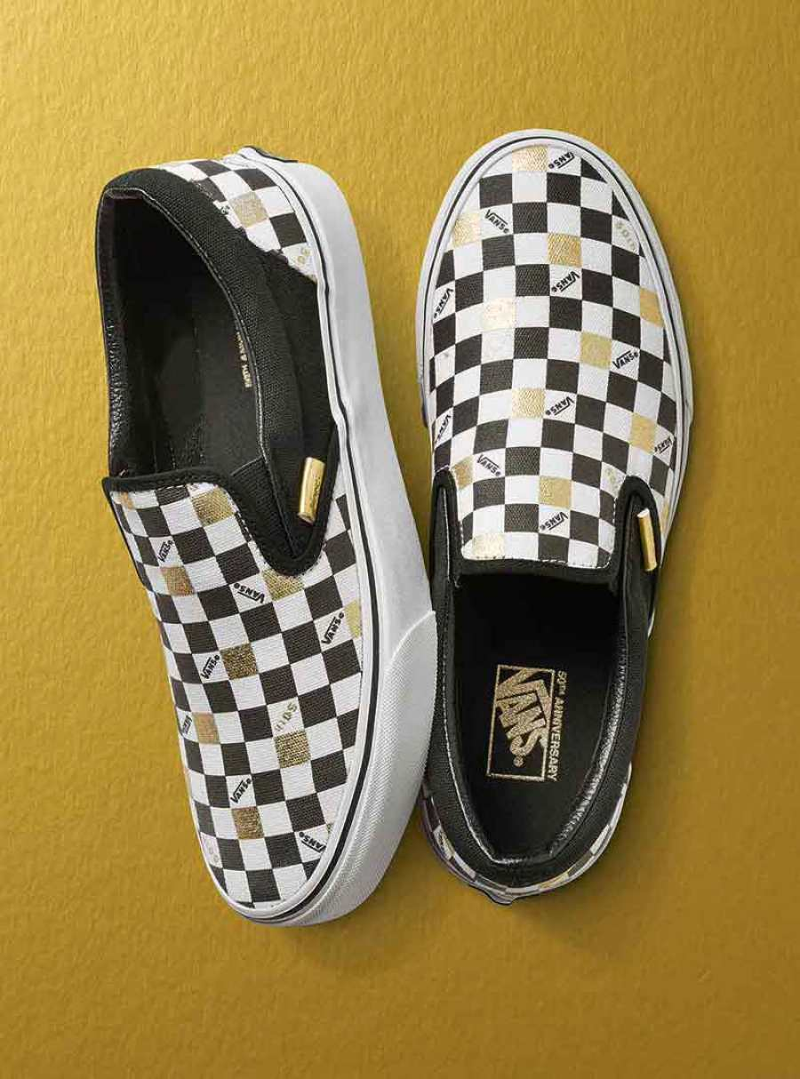 16e5d1fc5a7888 Vans 50th Anniversary Gold Collection Vans 50th Anniversary Gold Collection