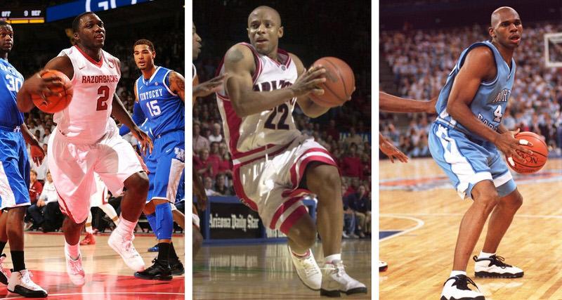 83a6314273eccc College Kicks on Court Classic    Air Jordans 1-10 in NCAA Play ...