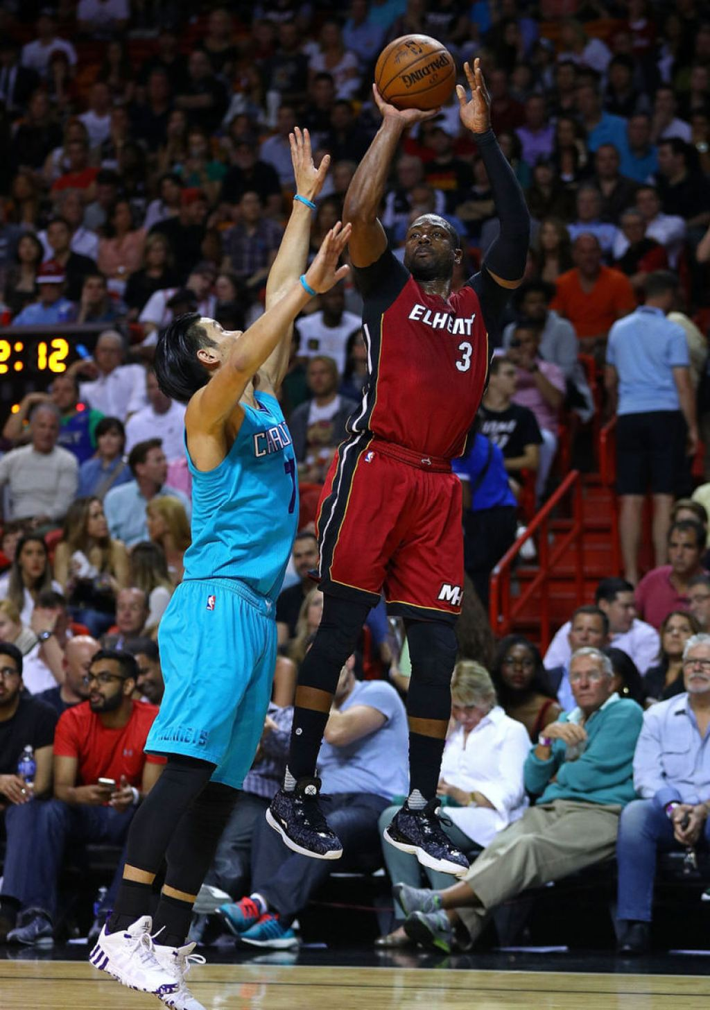 Jeremy Lin and Dwyane Wade in the adidas CrazyQuick 3 Low and the Li-Ning Way of Wade 4, respectively