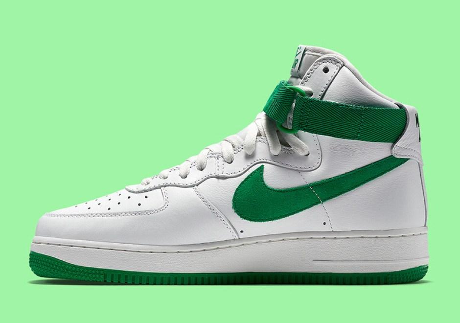 new styles d2c34 66d7e Nike Air Force 1 High White/Green // Coming Soon | Nice Kicks