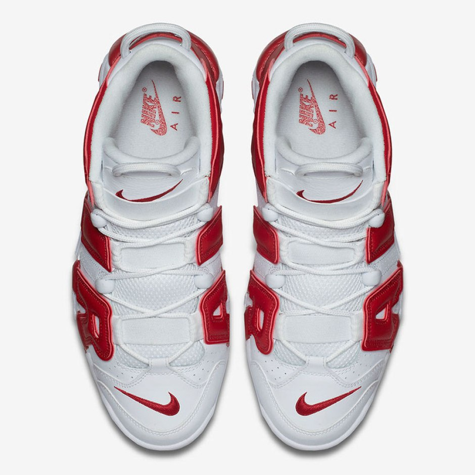 Nike Air More Uptempo White Varsity Red