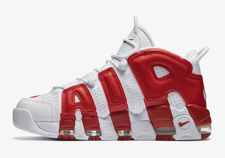 timeless design cbd0a 8bacc Nike Air More Uptempo White Varsity Red