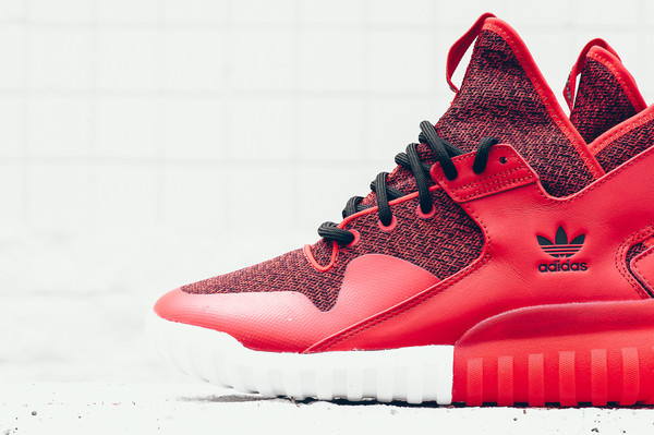 adidas tubular red and black