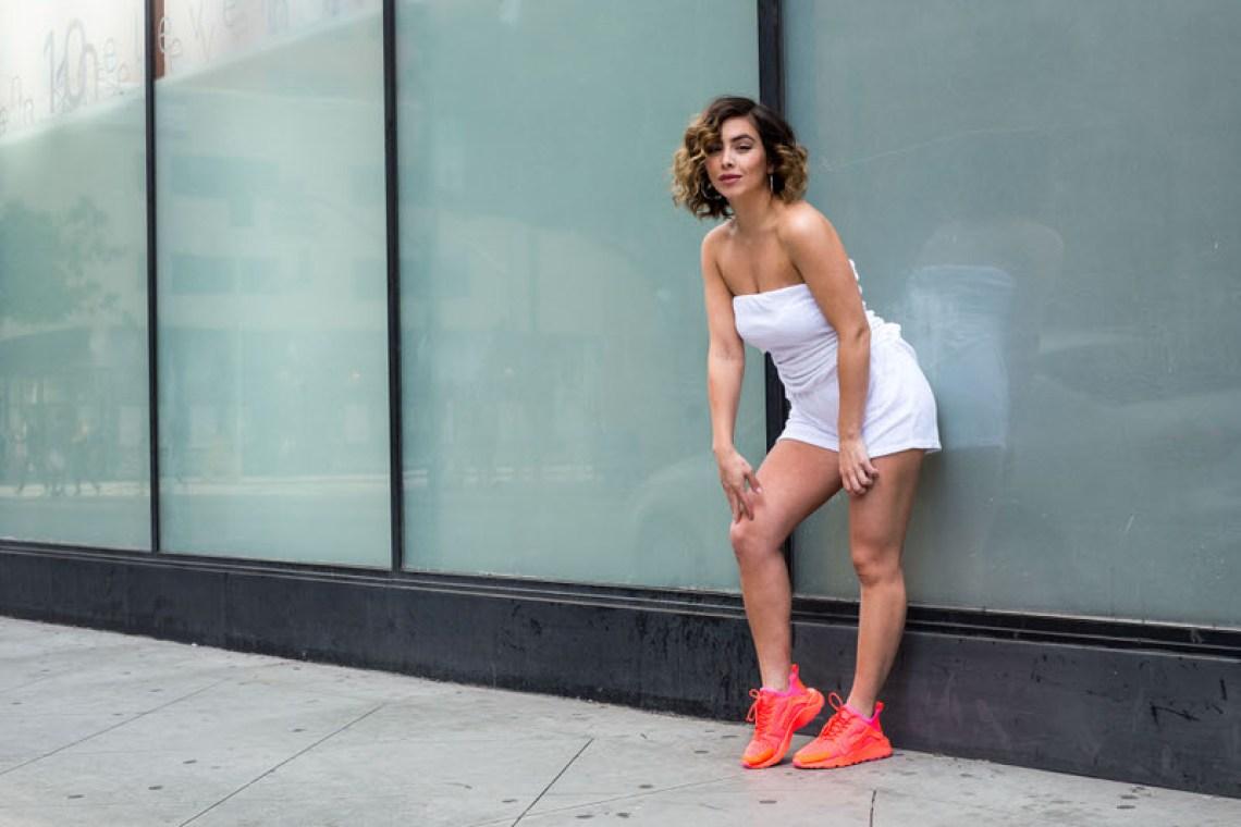 "Nike Air Huarache Ultra ""Total Crimson"" On-Foot Look"