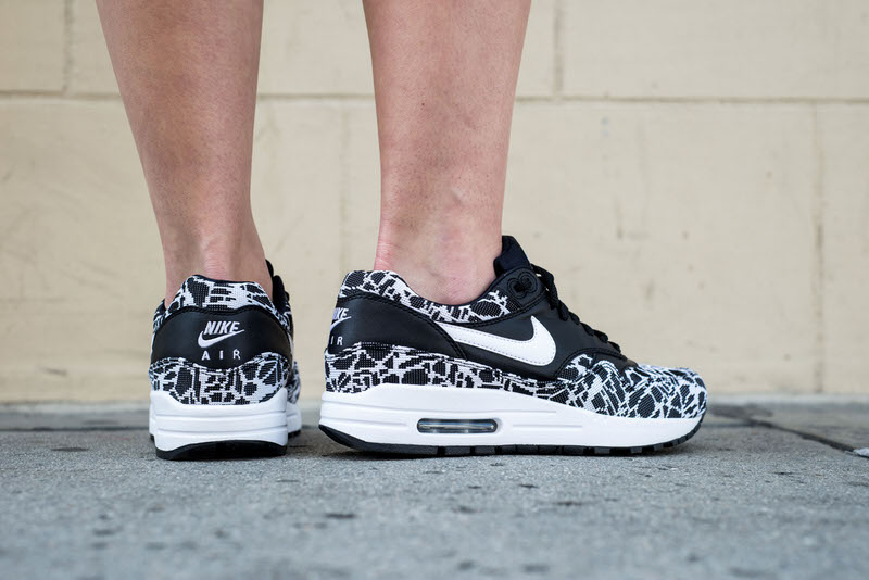 a5f50213a1 ... coupon for nike air max 1 jacquard black white on foot look 3bd9f 1a07a