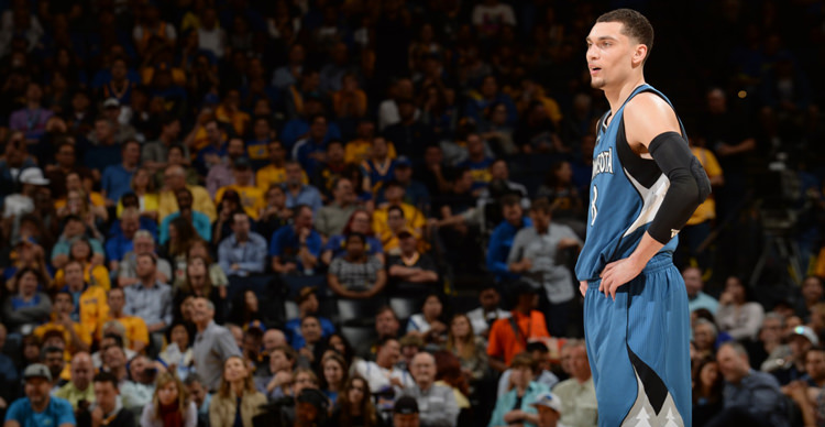"reputable site e0edd a9832 Zach LaVine Wears ""True Blue"" Air Jordan 3   Kicks On Court"