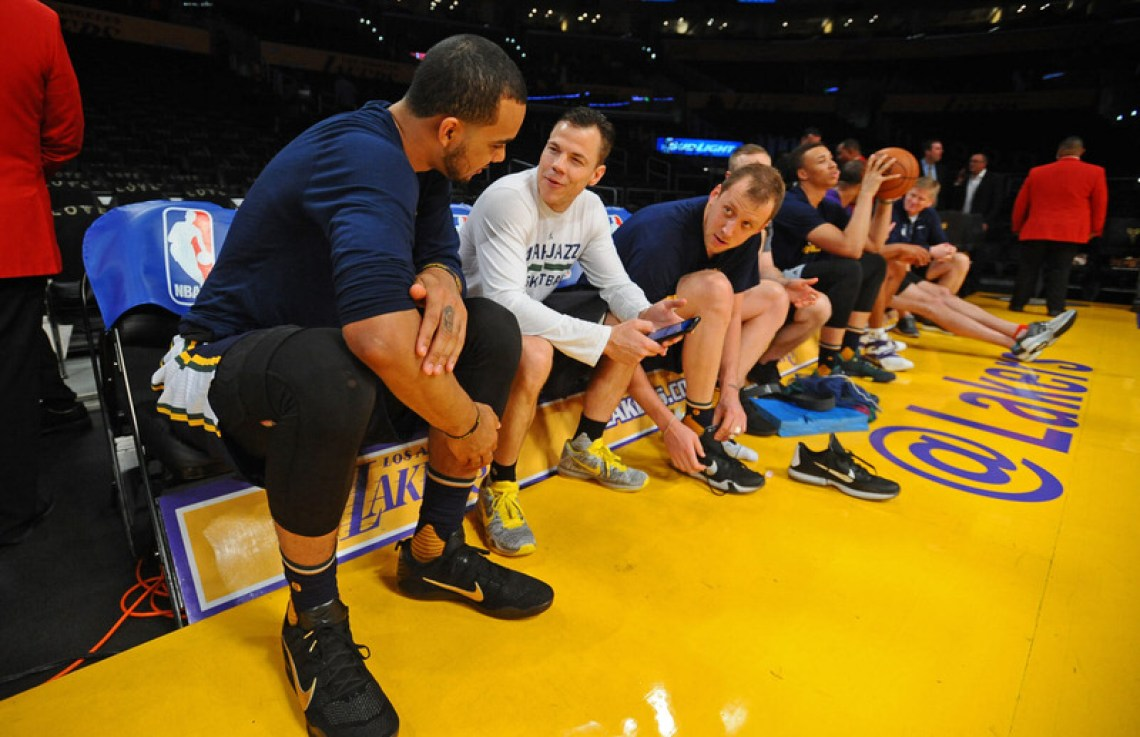 "Trey Lyles in the ""Fade to Black"" Nike Kobe 11"