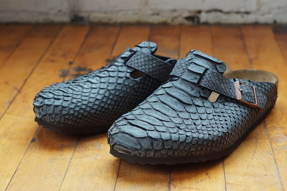 Charcoal Python Birkesnstock Boston 4