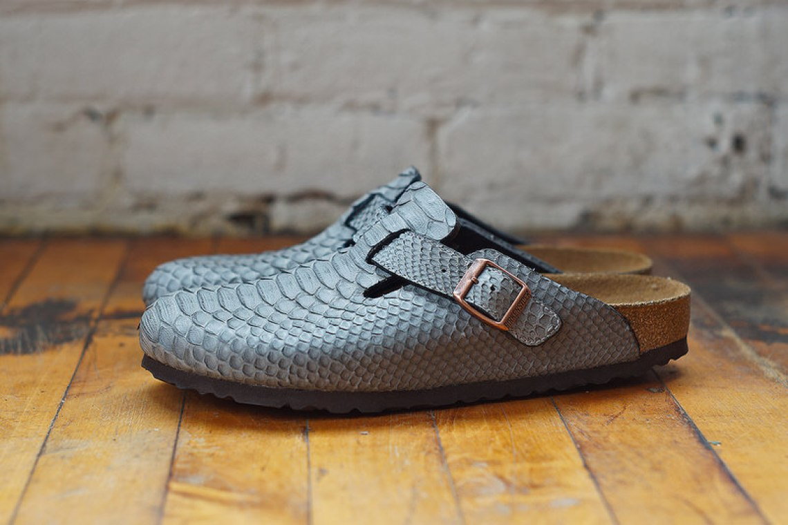 Grey Python Birkenstock Boston