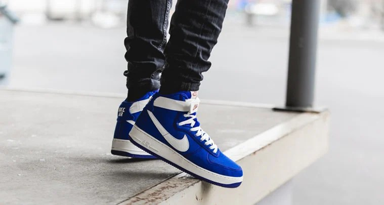"finest selection 00c34 2c2f7 Is The Nike Air Force 1 High Canvas ""Blue Concord"" A Must Cop"
