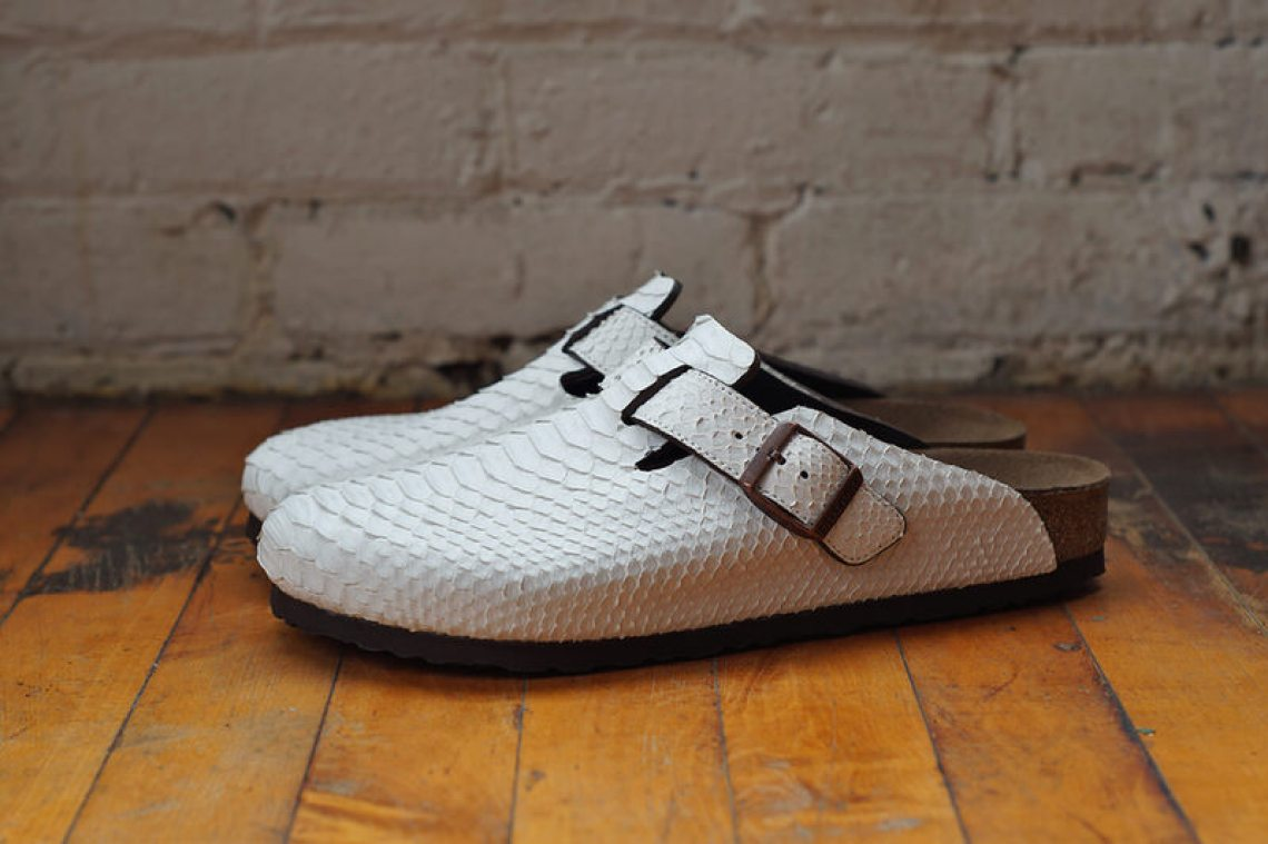 White Birkenstock Boston