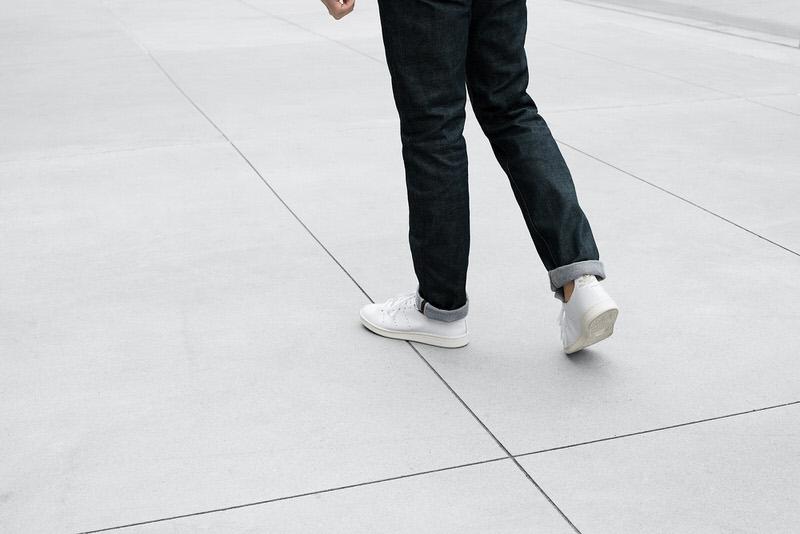Adidas stan smith le belle scarpe di cuoio.