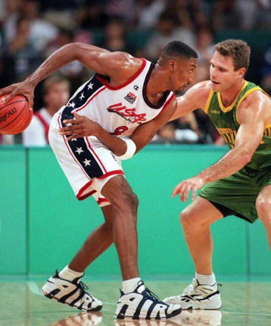 796f015628624 ATLANTA, GA - AUGUST 1: Scottie Pippen of the US (L) keeps. Air More  Uptempo Olympic ...