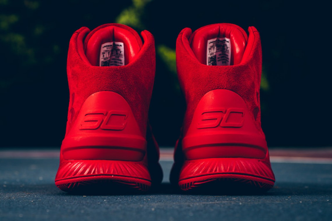 Under Armour Curry Lux Red Suede