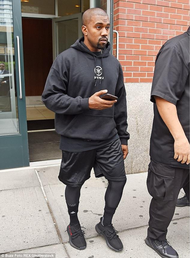 Kanye West in unreleased adidas Yeezy Boost 350
