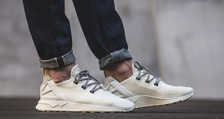 "huge discount 48832 d5d57 adidas ZX Flux ADV ""Off-White"" Adopts Yeezy Boost 350 Laces"