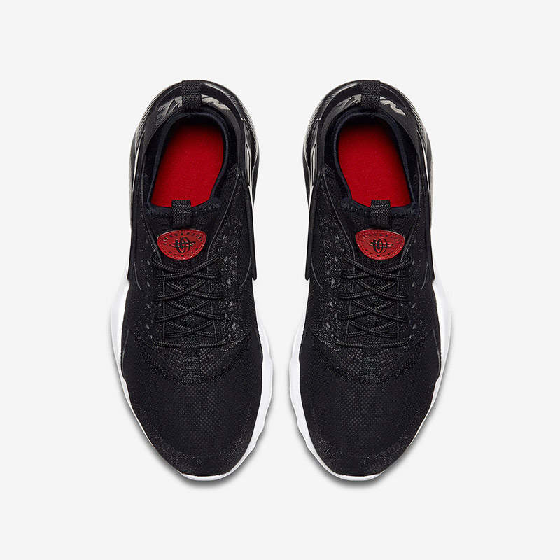 nike huarache ultra black and red