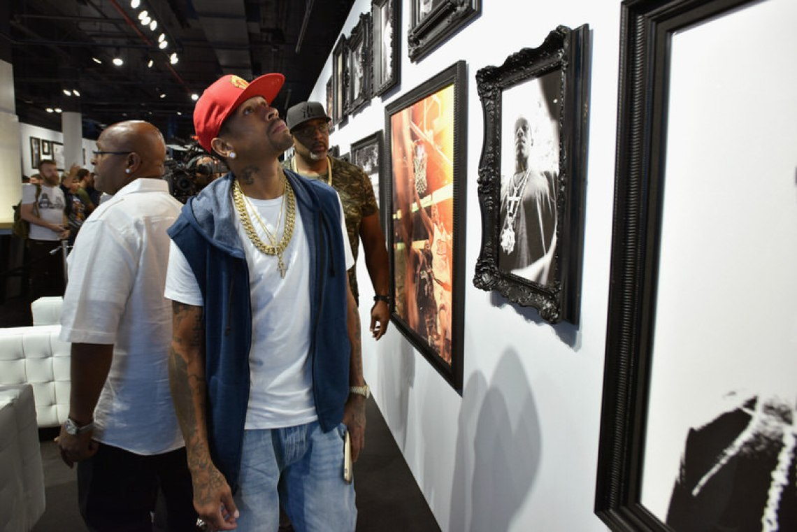 NEW YORK, NY - SEPTEMBER 15: Allen Iverson attends the Reebok X Packer Shoes launch party to celebrate Allen Iverson at Reebok FitHub Union Square on September 15, 2016 in New York City. (Photo by Bryan Bedder/Getty Images for Reebok)