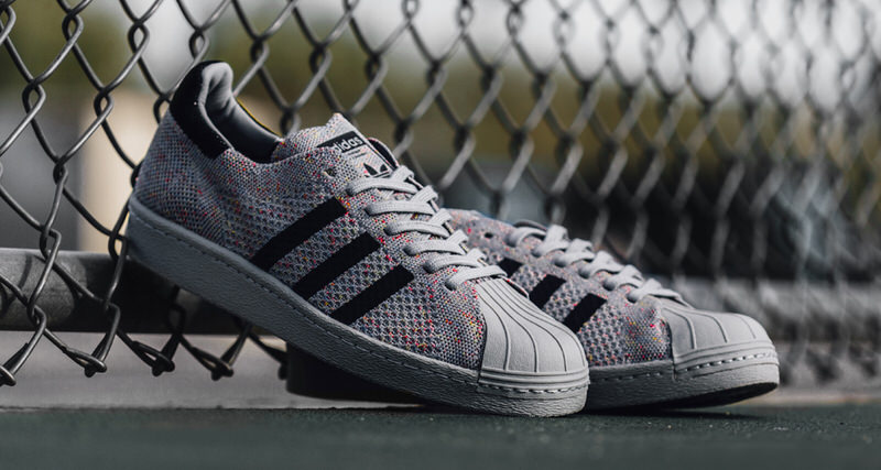 """new arrival ef610 3c19b adidas Superstar 80s Primeknit """"Grey""""    Available Now"""