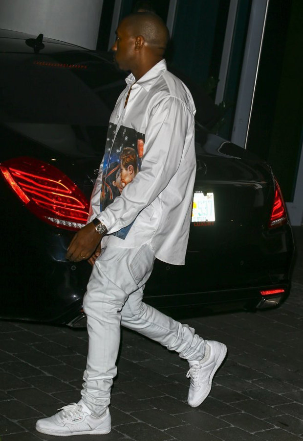 Kanye West in the adidas Powerphase Calabasas