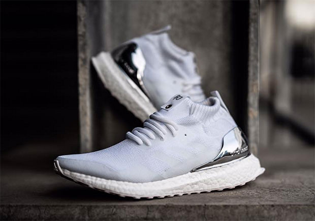 1f461370b990 hot sale Ronnie Fieg x adidas Ultra Boost Mid White Silver - www.b ...
