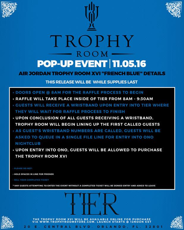 "864223f251b5 Here s How to Cop the Trophy Room x Air Jordan 16 ""Bleu Francais ..."