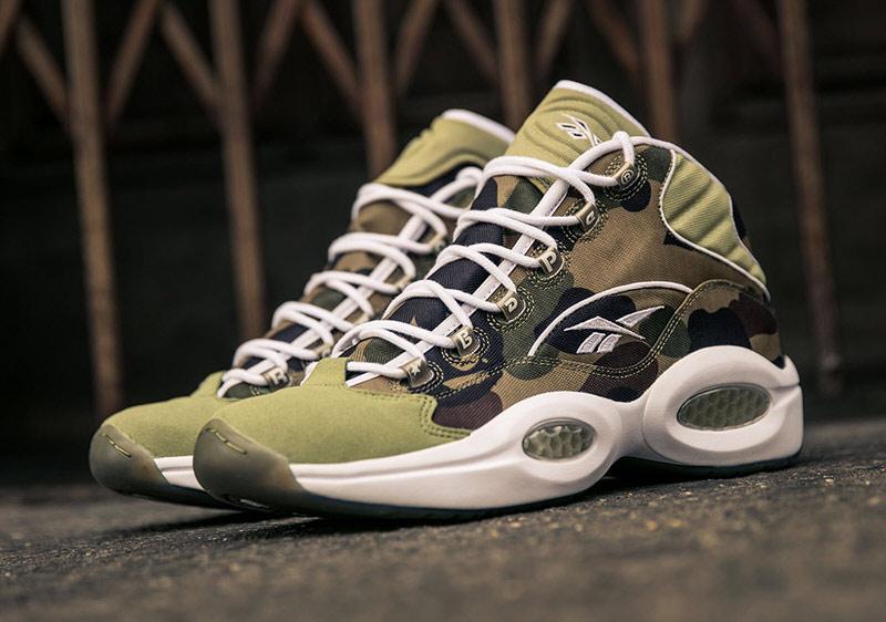 Bape x Reebok Question «1st Camo» Infos de sortie Sneakers